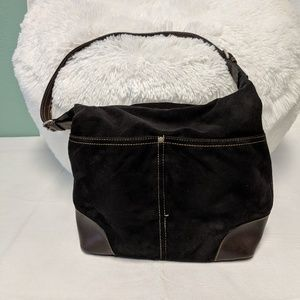 Tommy Hilfiger vintage shoulder bag black fabric